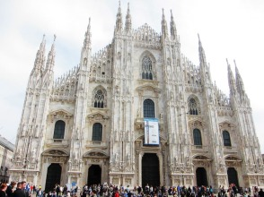 Milan's Duomo is the fifth largest cathedral in the world.