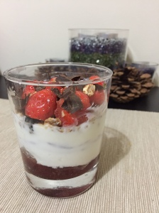Strawberry musli yogurt mix